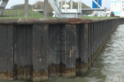 Inspectie en staaldiktemetingen Houtrib Sluizen Complex